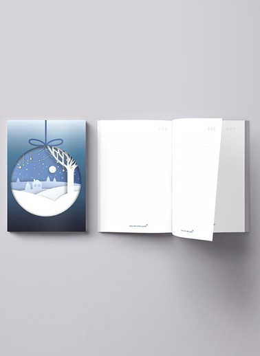 LWP Shop Christmas Notebook Mavi
